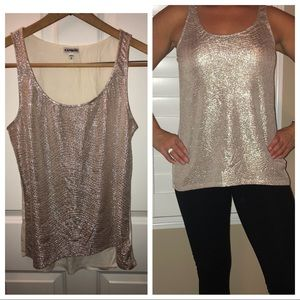 EXPRESS Lightweight tank-light metallic gold